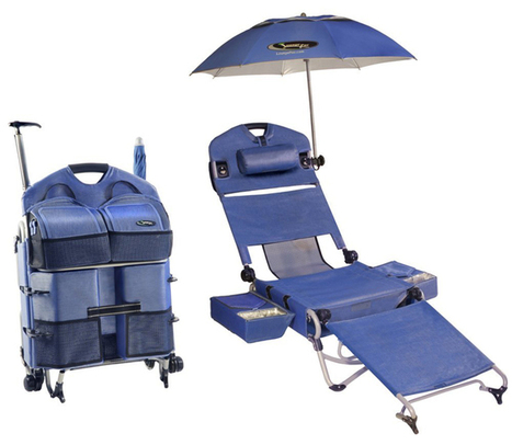 LoungePac The Complete Beach Chair | All Geeks | Scoop.it