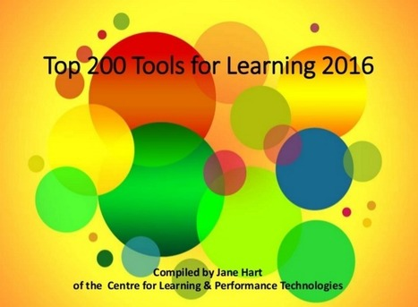 Top 200 Tools for Learning 2016 | Learning about Technology and Education | Scoop.it