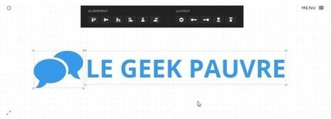 Créer un logo simplement, en ligne • Le Geek Pauvre | entreprises : outils utiles | Scoop.it