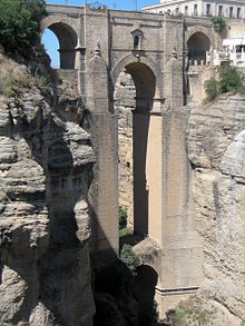 The Puente Nuevo is the newest and largest of three bridges that span the 120-metre (390 ft)-deep chasm that carries the Guadalevín River and divides the city of Ronda, in southern Spain. | Turismo de Ronda | Scoop.it