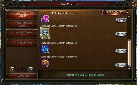 Wartune Addicts Blog: Wartune New Events 01/07 : Login Bonus, Soul Engraving, Gem Synthesizer, New Coin of Ancestry Exchange! | Wartune Addicts | Scoop.it