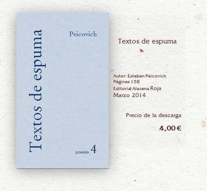 Textos de espuma - Alacena Roja -Librería Digital- | Esteban Peicovich | Scoop.it
