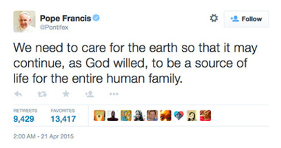 The Pope: Not a Scientist, But Listening to Science | Sustain Our Earth | Scoop.it