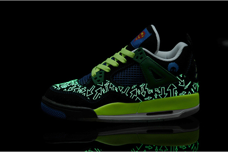 "New Arrival Shoes: ""Doernbecher"" Jordan 4 (Ⅳ) (Db) Black/White & Old Royal & Electric Green - Superman 