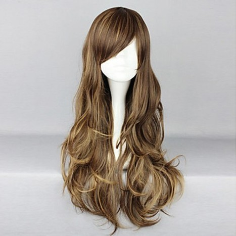 Brown Highlight Cosplay Wig|75cm Cosplay Wig |Classic Lolita Cosplay Wig|Brown Highlight 75cm Classic Lolita Cosplay Wig | Cosplay Costumes | Lolita & Uniform Cosplay | Zentai Suits Cosplay | Scoop.it