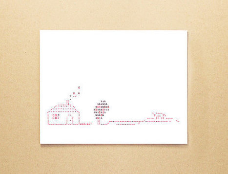 Typewriter art ASCII card - Oh give me a home where the buffalo roam - Rural landscape greeting card | ASCII Art | Scoop.it