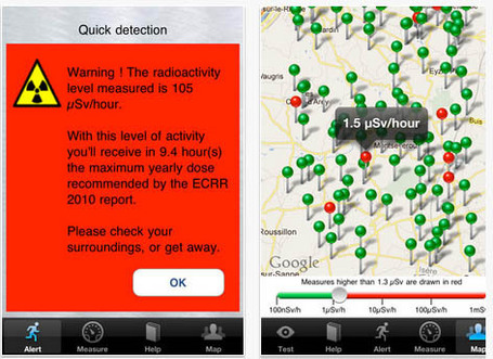 How to survive Nuclear Holocaust with Your iPhone: iRad app tells you when to run | Mapping & participating: Fukushima radiation maps | Scoop.it