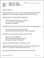 Quotation Marks Worksheets Worksheets | Word Study | Scoop.it