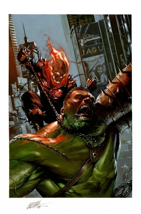 GHOST RIDER #12 Cover by GABRIELE DELL'OTTO (2007) , in ValeDG's My gallery Comic Art Gallery Room - 1197730 | Savvy Comics | Scoop.it