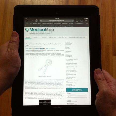 Goniometer app reviews by Medical App Journal | OT mTool Kit | Scoop.it