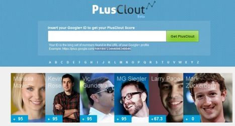 Mesurer son influence sur Google plus avec PlusClout - Blog du ... | Richard Dubois - Mobile Addict | Scoop.it