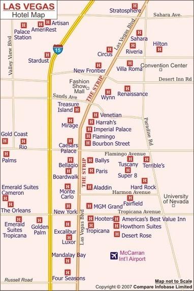 Las Vegas Strip Map | Map of Las Vegas Hotels | Maps & Info | Scoop.it