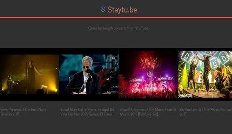Staytube: disfruta de conciertos completos en vídeo | ARTE, ARTISTAS E INNOVACIÓN TECNOLÓGICA | Scoop.it