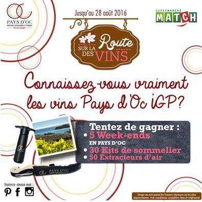 Le jeu Vins de pays d'Oc - Supermarchés Match | Vos Clés de la Cave | Scoop.it