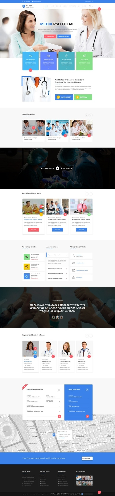 Medix Beautiful Medical, Doctor and Health Care PSD Template Download | Creative Themes and Template Download | Scoop.it