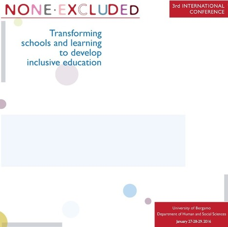 Index on Inclusion Conference, University of Bergamo | Inclusive Education | Scoop.it