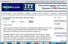 Al-Qaddafi-Era Rivalries Haunt Libya | Libya - Libyan East Current Events | Saif al Islam | Scoop.it