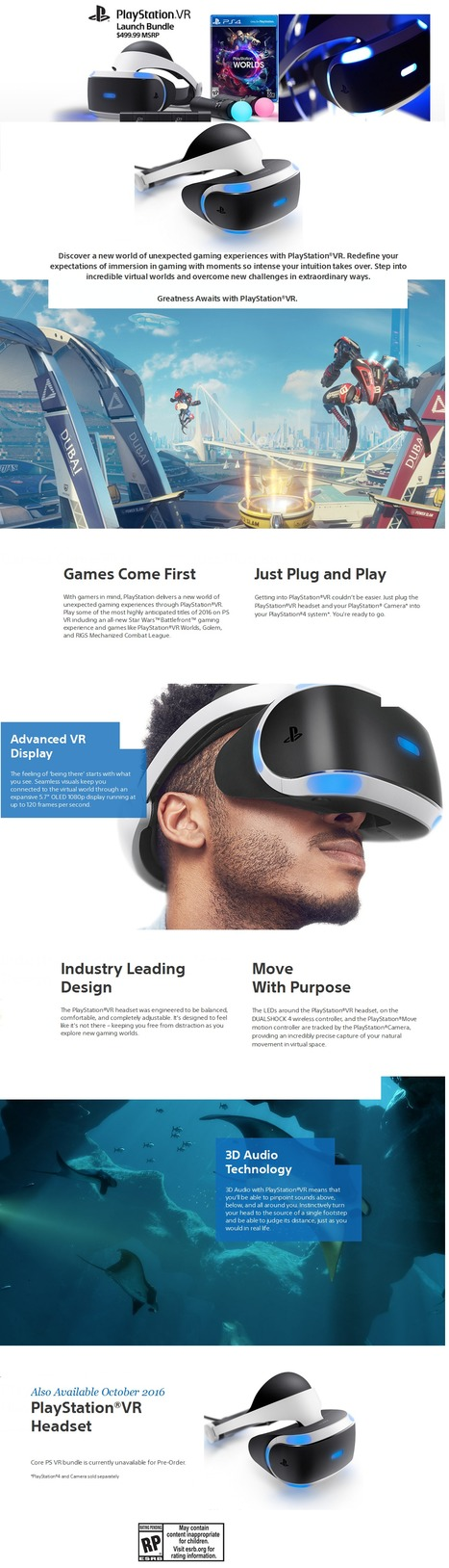 Sony PlayStation VR: Price, Release Date, Specs & Games - Revealed | Health & Digital Tech Magazine - 2016 | Scoop.it
