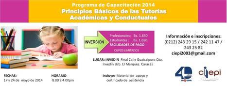 Programa de Capacitación 2014 Principios Básicos de las Tutorías Académicas y Conductuales | INVEDIN | tutorías | Scoop.it