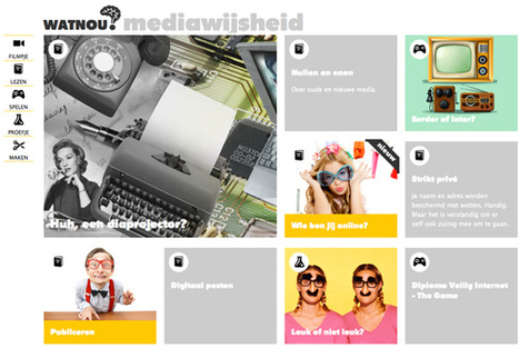 Veelzijdig lesmateriaal mediawijsheid op WatNou?   Mediawijzer   Sociale Media en school   Scoop.it