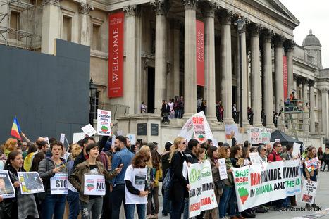 Romania's Save Rosia Montana protest draws hundreds to London's Trafalgar Square | Save Rosia Montana | Scoop.it