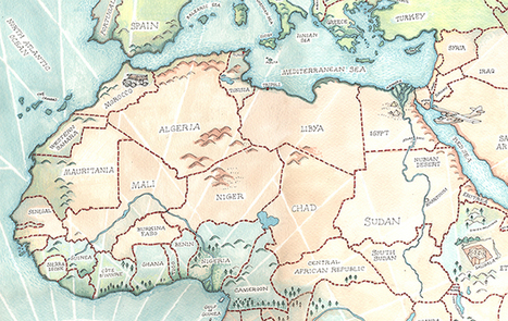 Illustrated Map of Africa - Illustrated Maps | Map@Print | Scoop.it