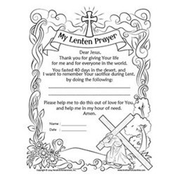 lent coloring pages printable - herald store my lenten prayer resources for c