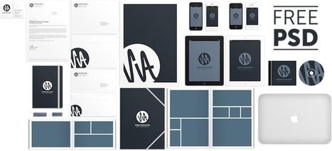 Mockup PSD para diseños de identidad corporativa | Diseño | Scoop.it