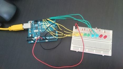 Arduino LED Bouncer - create the effect of a light passing through multi-coloured LEDs | Physical Computing | Scoop.it