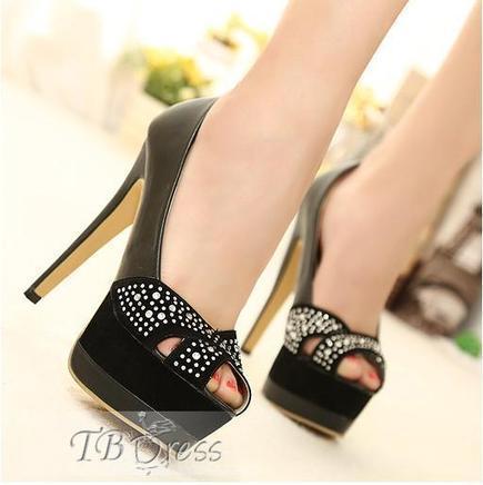 Great Black Suede Stiletto Heels Platform Peep-toe Women Pumps | beauty&fashion clothing | Scoop.it