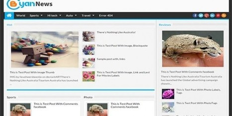 Free Bcyan News Blogger Template Personal - Designsave.com | Blogger themes | Scoop.it