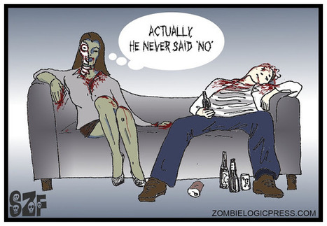 Zombie Logic: Poetry, Politics, Webcomics, Movies, Sports, Art, and Zombies: Single Zombie Female (Date Ate)   Illustration   Scoop.it