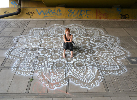 Polish Artist Covers City Streets In Intricate Lace Patterns   Transmedia Story, Arts and Social Commentary   Scoop.it