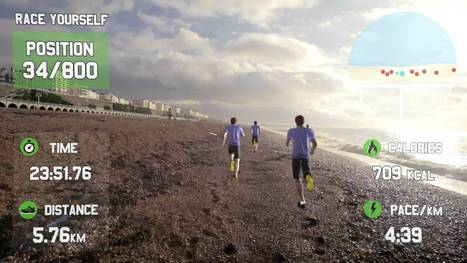 ▶ GOOGLE GLASS FOR FITNESS - Race Yourself - Virtual Reality Fitness Motivation - YouTube | Réalité augmentée | Scoop.it