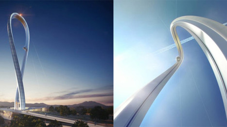 Crazy tower design takes people in glass pods on a roller coaster loop | GAMB MEDIAS | Scoop.it