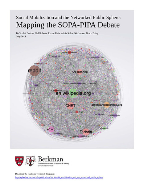 "New Publication: ""Social Mobilization and the Networked Public Sphere: Mapping the SOPA-PIPA Debate"" 