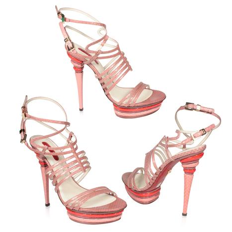 Cesare Paciotti Womens Shoes Python Pink High-Heel Platforms | Designer Womens Shoes | Scoop.it