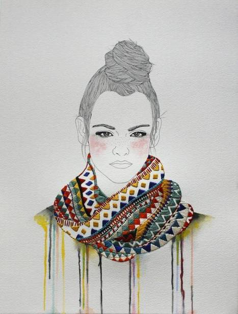 Fashion Illustrations with Embroidered Accessories | ILLUSTRATION | Scoop.it