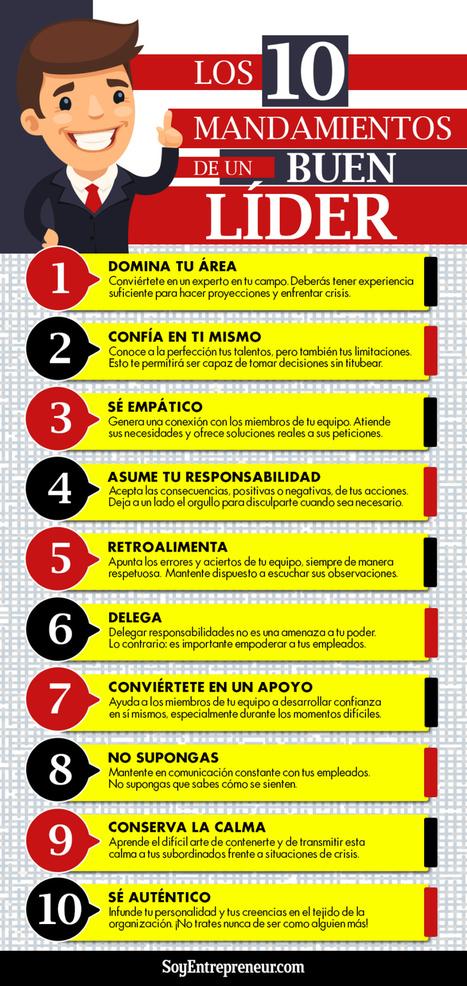 10 mandamientos del líder #infografia #infographic #leadership | Las TIC en el aula de ELE | Scoop.it