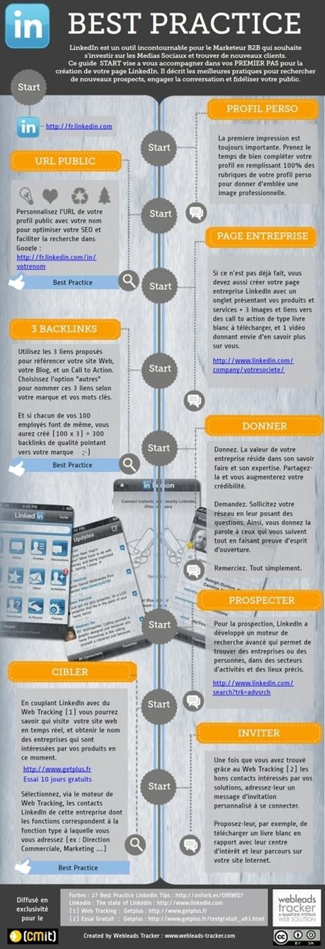 Infographie : 8 conseils pro pour développer votre entreprise grâce à Linked In | Web 2.0 pro | Scoop.it