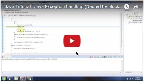 Java Tutorial : Java Exception handling (Nested try block-Example) | JAVA | Scoop.it