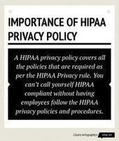 Infographic: Importance Of hipaa privacy policy | Infogram | Business Associate HIPAA Compliance Tool | Scoop.it