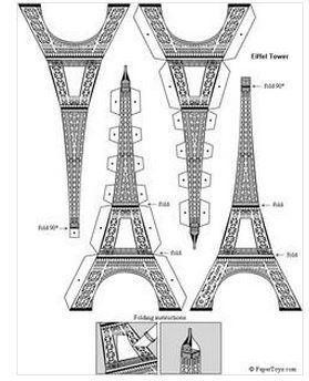 Eiffel Tower- Paper Cutouts by PaperToys.com | les sites du FLE | Scoop.it