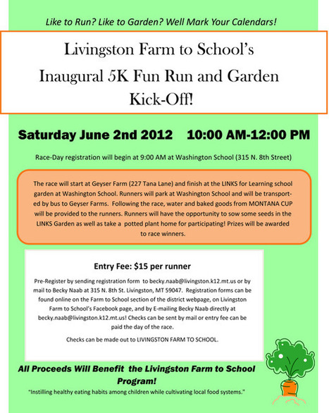 Farm to School 5K Fun Run and Garden Kick Off « Livingston Buy ... | School Kitchen Gardens | Scoop.it