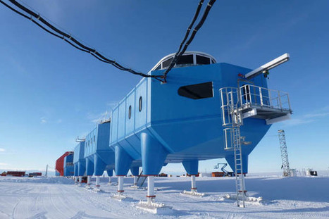 """Newly Opened Archigram-esque Research Station """"Walks"""" Across The Antarctic 