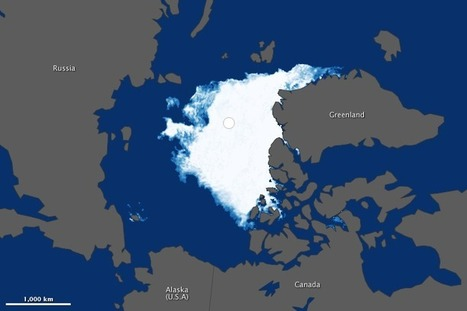Visualizing the 2012 Sea Ice Minimum : Image of the Day | Living with Climate Change | Scoop.it