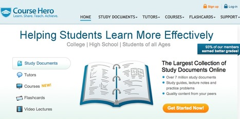 Course Hero | Study Guides, Lecture Notes, Flashcards, Practice Exams, Lecture Videos | Business and Economics: E-Learning and Blended Learning | Scoop.it
