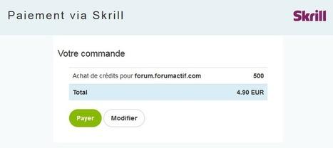 Skrill: Nouveau moyen de paiement pour les crédits Forumactif | Forumactif | Scoop.it