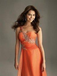 Robe orange de soirée-nouvelle collection en ligne   fashionrobe   Scoop.it