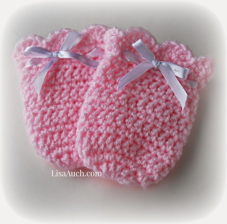 Free Crochet Patterns and Designs by LisaAuch: Crochet Baby Mittens | Vintage Swing Crochet Baby Mitts A Free Crochet Pattern | Crochet Crochet Crochet.... | Scoop.it